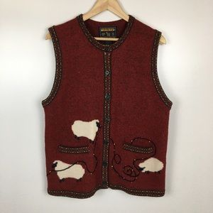 Woolrich Sheep Holiday Christmas Vest Women's M